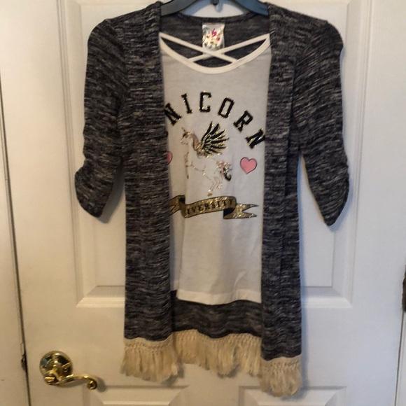 e48160022a1f jenna &Jessie Shirts & Tops | Nwtjennajessie Girls Unicorn ...
